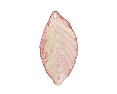 Vintage Meadow Acrylic Honeysuckle Birch Leaf 19x36mm