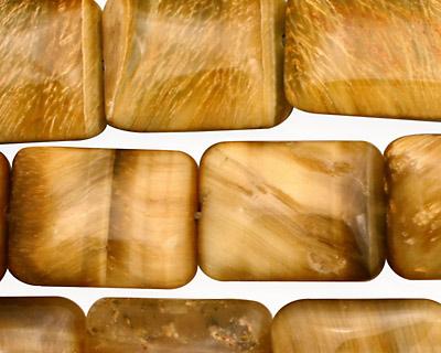 Honey Tiger Eye Thin Pillow 20x15mm