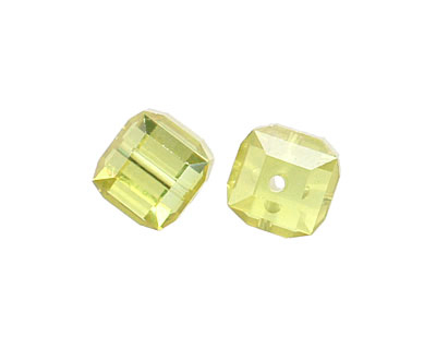 Lemon Ice Faceted Cube 8mm