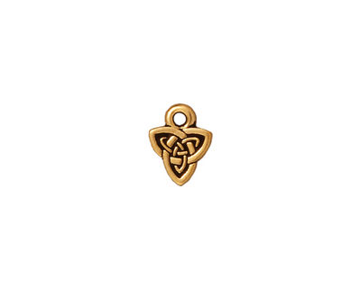 TierraCast Antique Gold (plated) Celtic Triad Charm 8x10mm