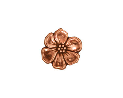TierraCast Antique Copper (plated) Apple Blossom Button 14mm