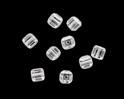 Crystal Clear Faceted Cube 4mm