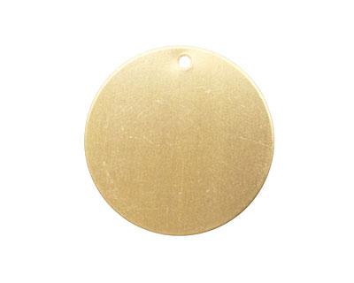 Brass Circle Blank Tag 25mm (w/ 1mm drill hole)