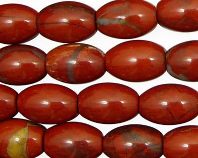 Red Jasper Rice 14x10mm