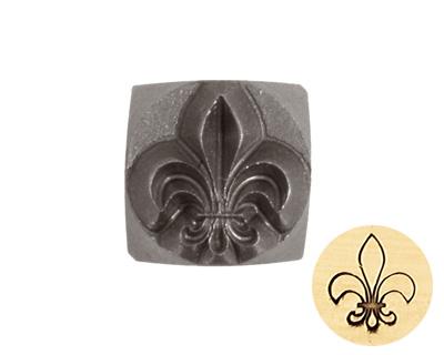 Fleur de Lis Metal Stamp 6mm