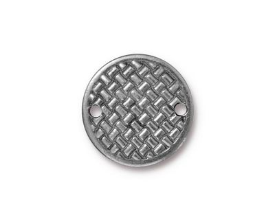 TierraCast Antique Pewter (plated) Woven Disk Link 18mm