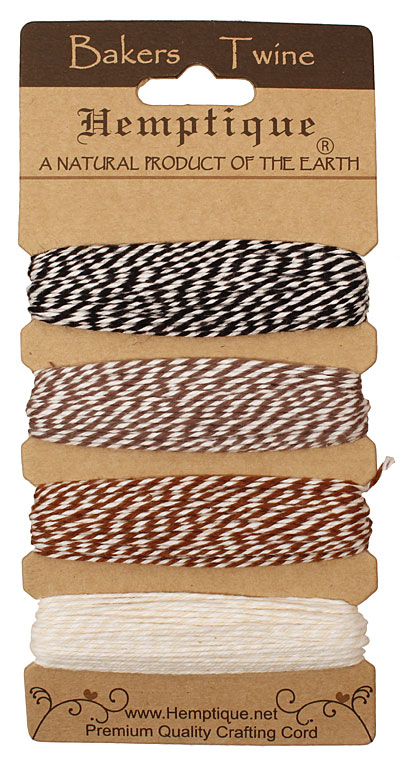 Cappuccino Bakers Twine 2 ply, 30 ft x 4 colors