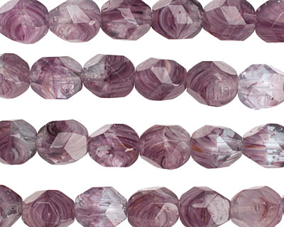 Czech Glass Lilac Faceted Nugget 8mm