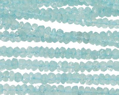 Aquamarine Faceted Rondelle 4mm