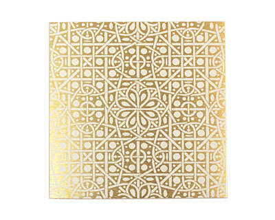 Lillypilly Gold Cross Stitch Anodized Aluminum Sheet 3