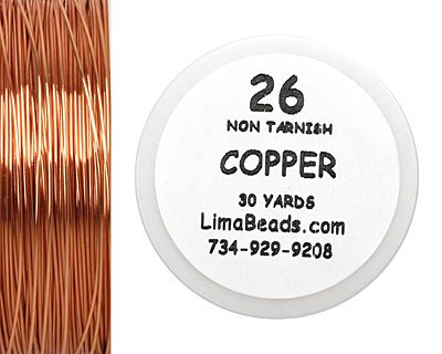 Parawire Non-Tarnish Copper 26 Gauge, 30 Yards