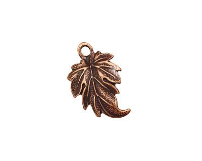 Ezel Findings Antique Copper Lombardy Leaf Pendant 12x19mm