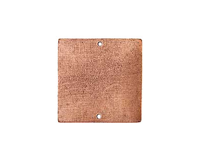 Nunn Design Antique Copper (plated) Flat Grande Square Tag Link 31mm