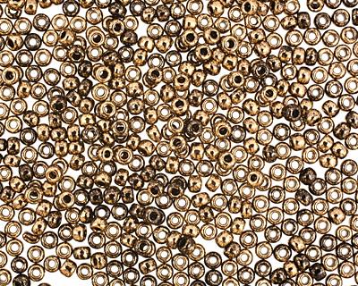 TOHO Gilded Marble Black Round 11/0 Seed Bead
