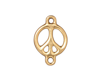 TierraCast Gold (plated) Peace Link 15x22mm