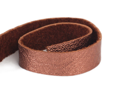 TierraCast Antiqued Copper Leather Strap 10