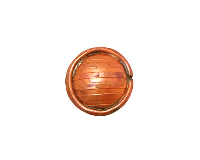Patricia Healey Copper Puff Circle Bead 16mm