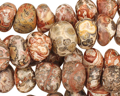 Leopardskin Jasper Tumbled Nugget 4-7x10-12mm