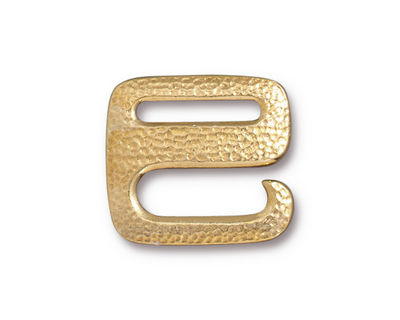 TierraCast Gold (plated) Distressed E Hook Clasp 18x20mm