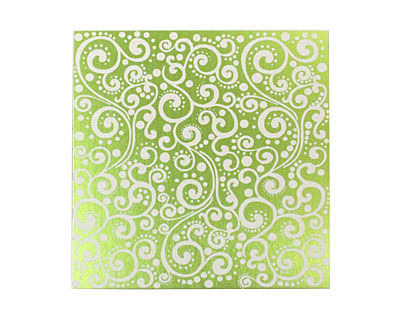 Lillypilly Lime Green Scrolling Vine Anodized Aluminum Sheet 3
