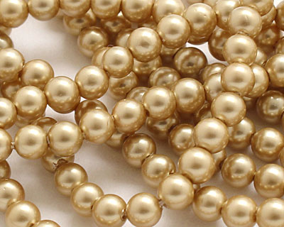 Hamilton Gold Shell Pearl Round 4mm