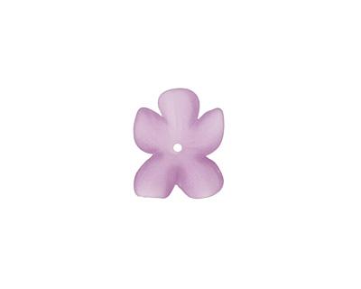 Matte Amethyst Lucite Hibiscus Flower 3x11-14mm