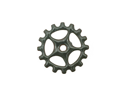 C-Koop Enameled Metal Steel Gray Sectioned Gear 19mm