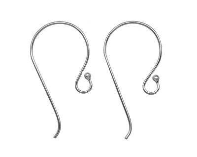 Saki Sterling Silver Earwire w/ Ball 21x41mm