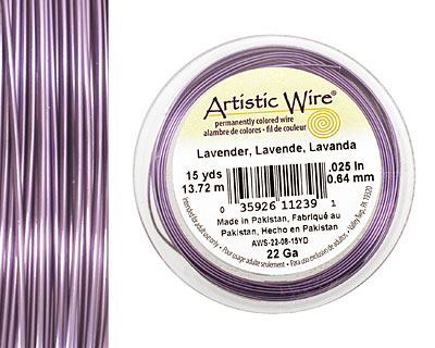 Artistic Wire Lavender 22 gauge, 15 yards