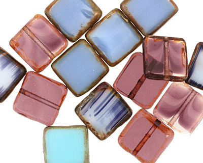 Czech Glass Twilight Square 10mm