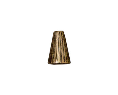 TierraCast Antique Brass (plated) Tall Radiant Cone 12x9mm