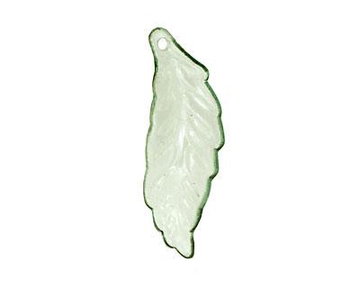 Lucite Transparent Chrysolite Mini Turning Leaf 10x29mm