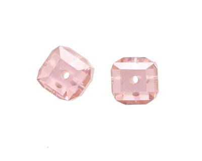 Pink Peony Faceted Cube 8mm