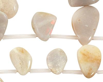 Australian White Opal Freeform Drop 9-19x14-24mm
