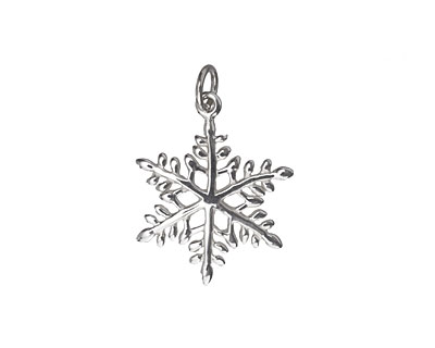 Nina Designs Sterling Silver Large Snowflake Charm 18x24mm