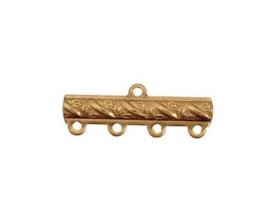 Brass Ribbon Bar 1-4 Link 9x25mm