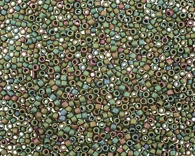 TOHO Matte Iris Peridot Round 15/0 Seed Bead