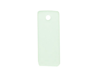 Seafoam Recycled Glass Bottle Curve Rectangle 14x35mm