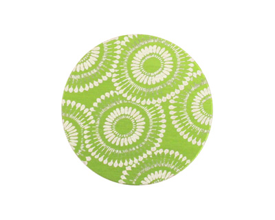 Lillypilly Lime Green Dandelion Anodized Aluminum Disc 25mm, 24 gauge