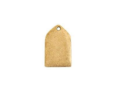 Nunn Design Antique Gold (plated) Mini Flat Tag Tablet 11x17mm