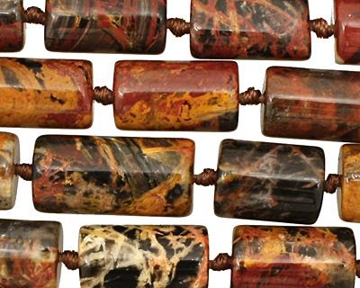 Pilbara Jasper Irregular Barrel 12-17x9mm