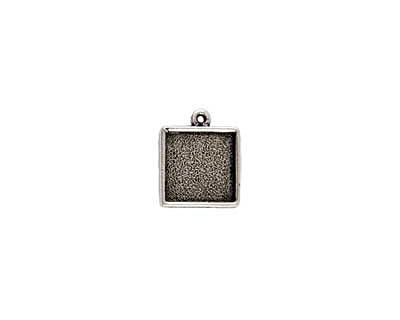 Nunn Design Antique Silver (plated) Mini Square Frame Charm 15x17mm