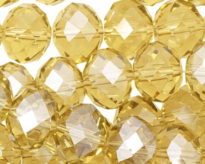 Honey Crystal Faceted Rondelle 14mm