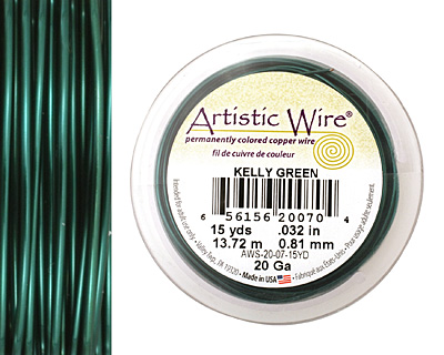 Artistic Wire Kelly Green 20 gauge, 15 yards