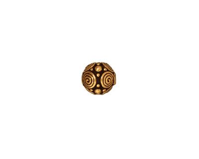 TierraCast Antique Gold (plated) Spirals Round 8mm