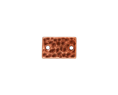 TierraCast Antique Copper (plated) Hammered Rectangle Link 13x8mm