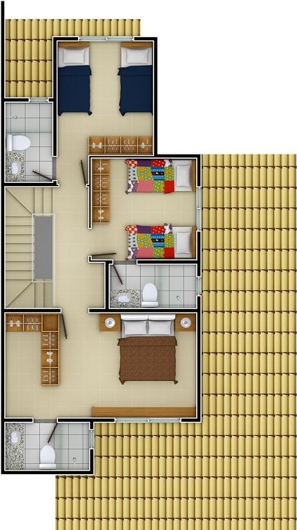Planta Pavimento Superior 3 Suites