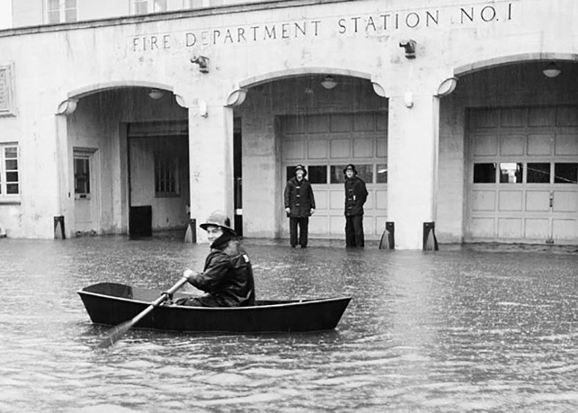 December 1955 flood in Santa Cruz, CA