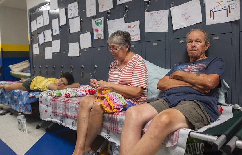 Dorian evacuees in Myrtle Beach, SC