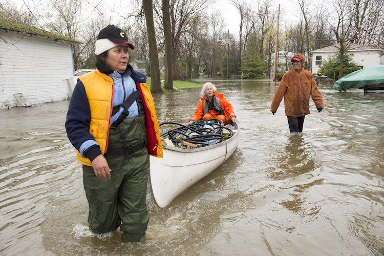 Flooding in Ile-Bizard, Quebec, on 5/5/2017